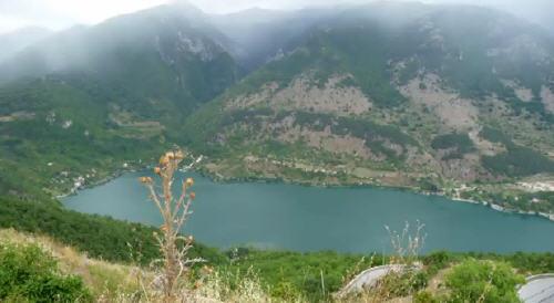 Lago di Scanno dall'alto