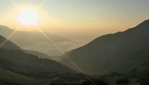 Panorama al tramonto Parco Nazionale d'Abruzzo