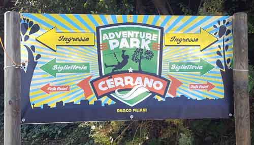 cartello ingresso del parco