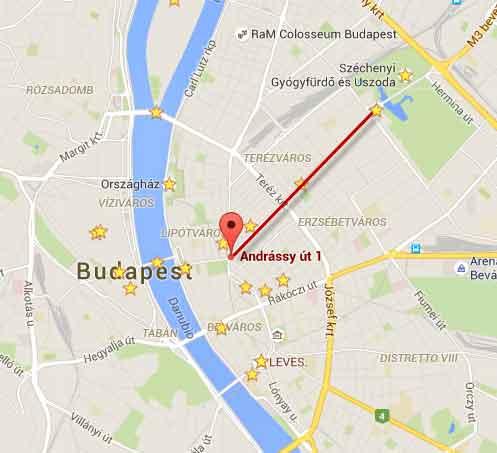 mappa via Andrassy