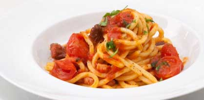 Spaghetti alla chitarra ai 4 pomodori