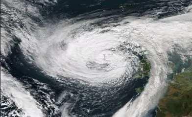 uragano dall'alto