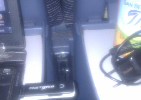 Foto presa alimentazione per il portatile su treno eurostar