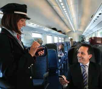 controllo biglietto treno