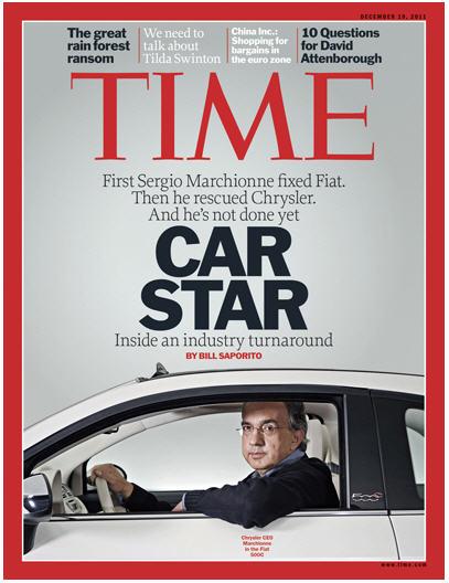 Marchionne sulla copertina del Time