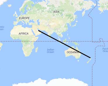 distanza Doha - Auckland