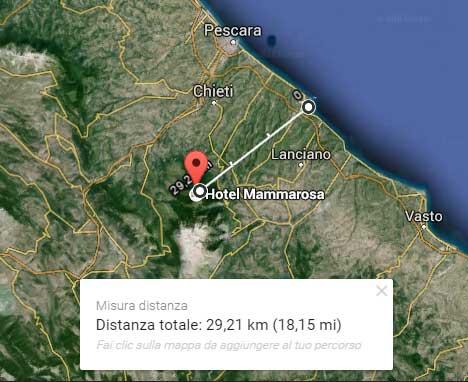 distanza mare montagna abruzzo