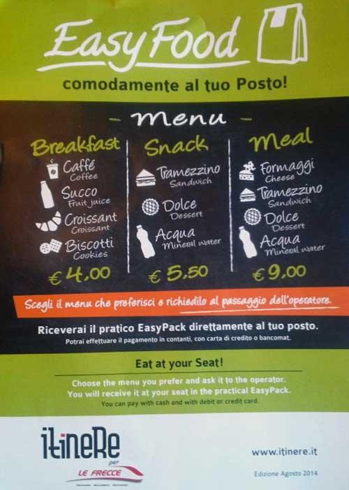 Mangiare Sul Treno Trenitalia E Italo Carrozza Ristorante