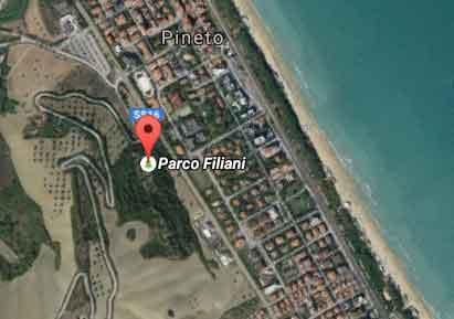 foto satellite del parco