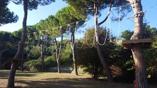 corde parco avventura Pineto