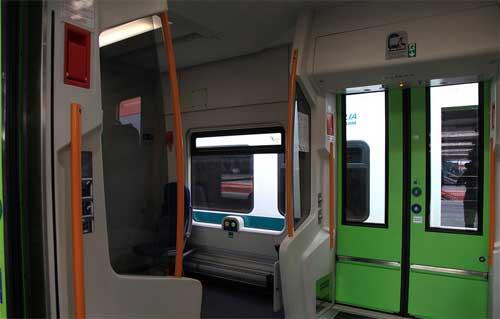 interno del treno diesel