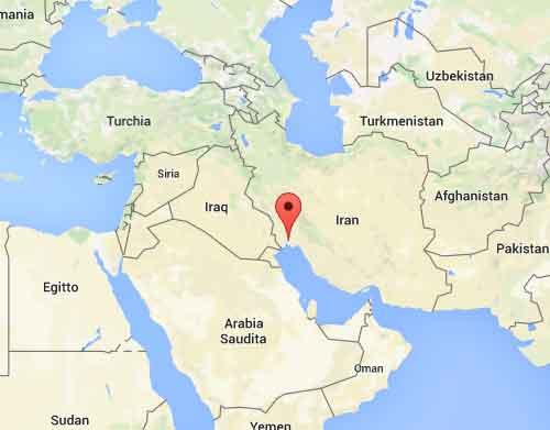 mappa Bandar Mahshahr - Iran