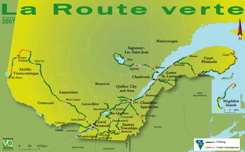 mappa la route verte