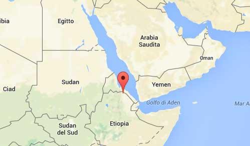 mappa Dallol - Etiopia