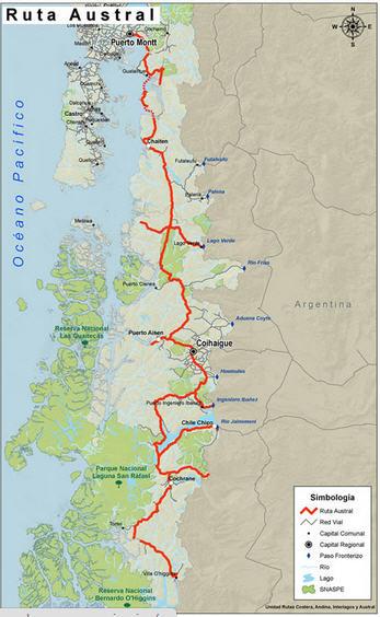 mappa Ruta Austral