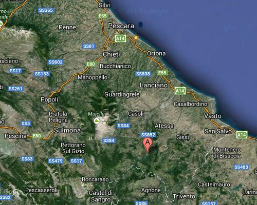 mappa villa santa maria