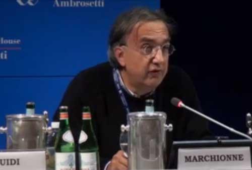 Marchionne all'ambrosetti forum