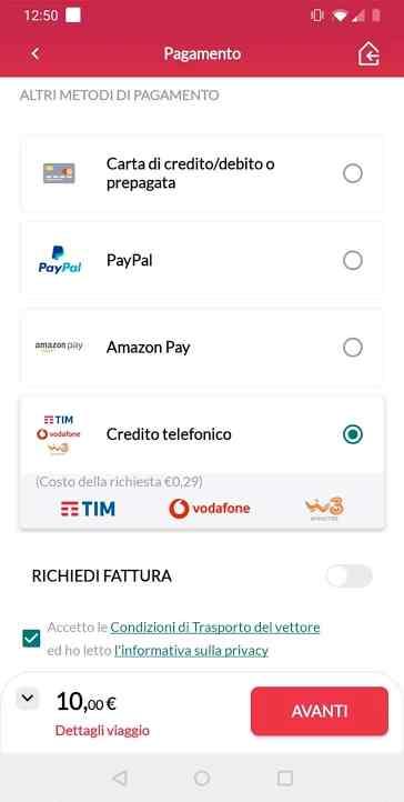 pagamento app trenitalia