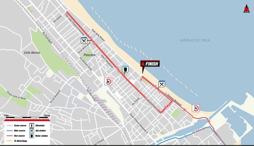 mappa percorso di corsa Ironman 2016 Italia