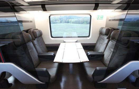 Foto carrozza business su treno Freccia Rossa