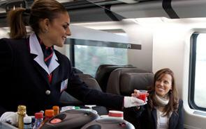 Foto welcome pack business su treno Freccia Rossa