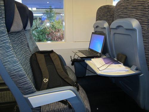 Foto come sistemarsi comodamente sul treno