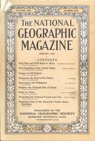 primo numero del National Geographic