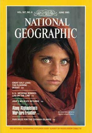 foto ragazza afgana di Steve McCurry