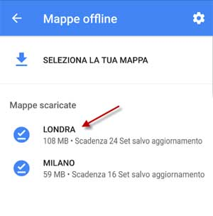 elenco mappe