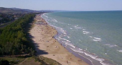 Spiaggia e mare costa abruzzese