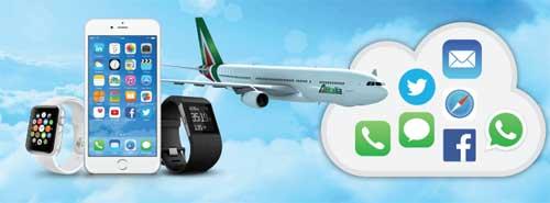 telefono in volo