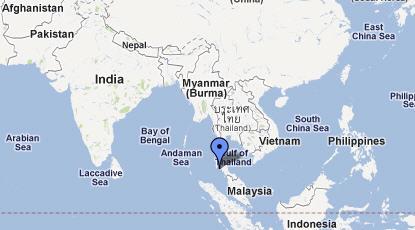 Thailandia Capitale Mappa