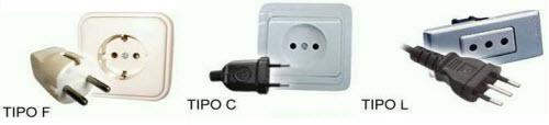 prese elettriche F, L, C