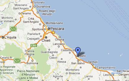 Cartina Geografica Molise Mare.Vasto E La Costa Dei Trabocchi In Abruzzo Foto Mappe Ed Informazioni Utili