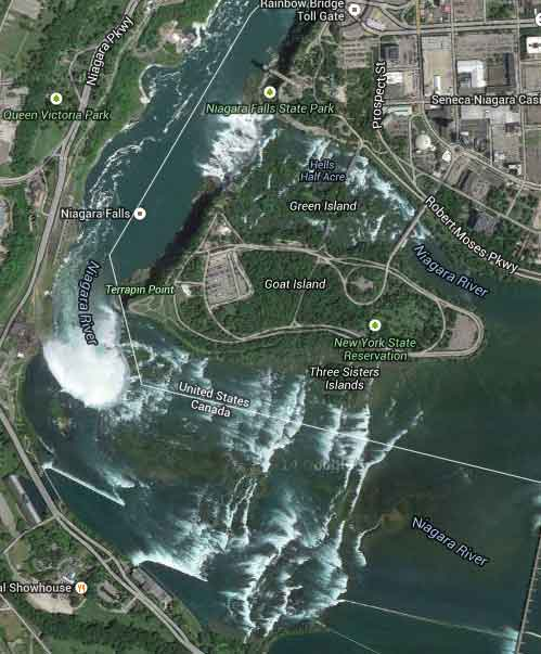foto satellite cascate niagara