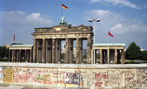 Porta di Brandeburgo e muro di Berlino