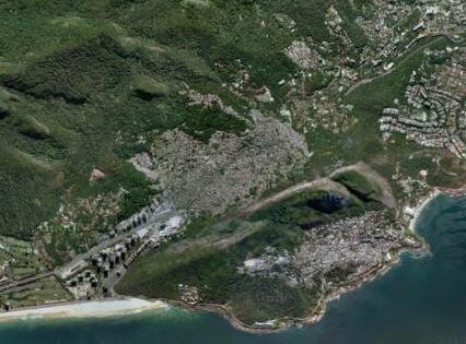 Foto dal satellite della favelas di Rocinha