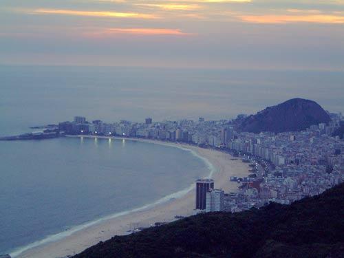 Vista su spiagga di Copacabana dal Pan di Zucchero