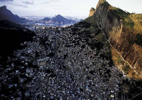 Foto favelas dall'alto