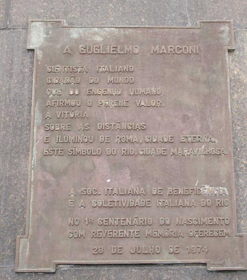 Foto Targa dedicata a Marconi