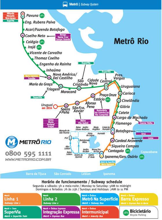 mappa metro rio