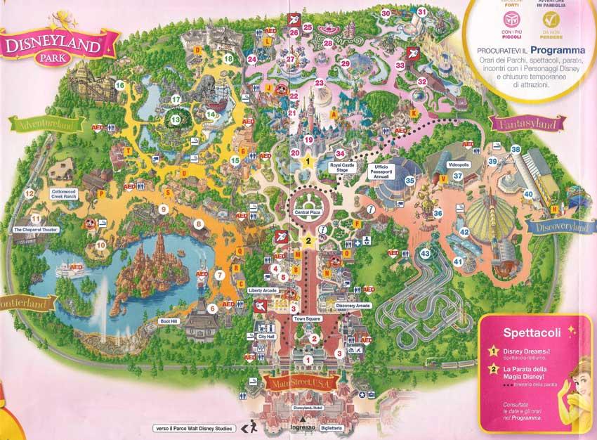 mappa disneyland eurodisney