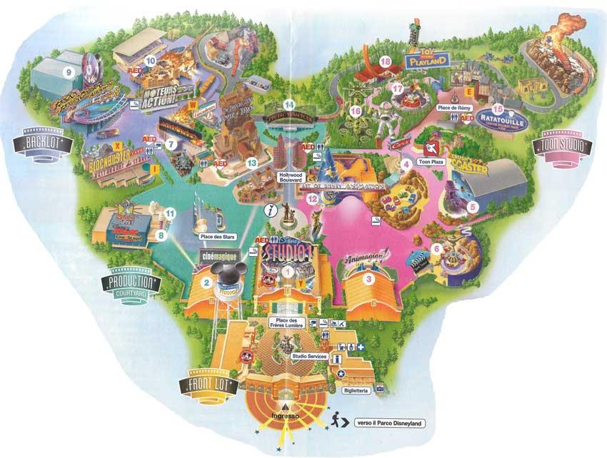 mappa studios eurodisney