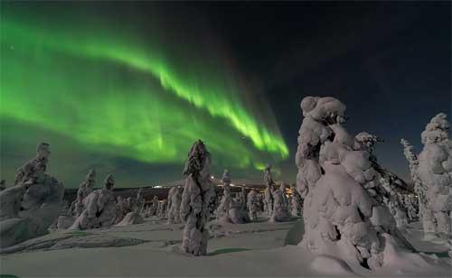 foto aurora boreale, Finlandia