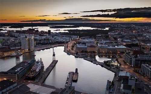 foto Helsinki al tramonto, Finlandia