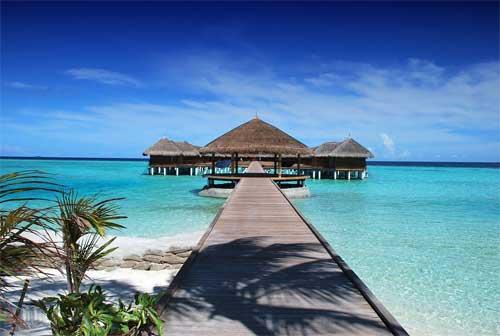 foto spiaggia resort Maldive