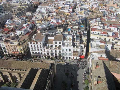 Foto panorama dalla Giralda Siviglia