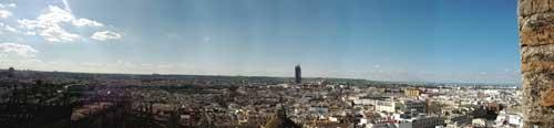 Foto panorama dalla Giralda