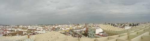 Foto panoramica su Siviglia dal Metropol