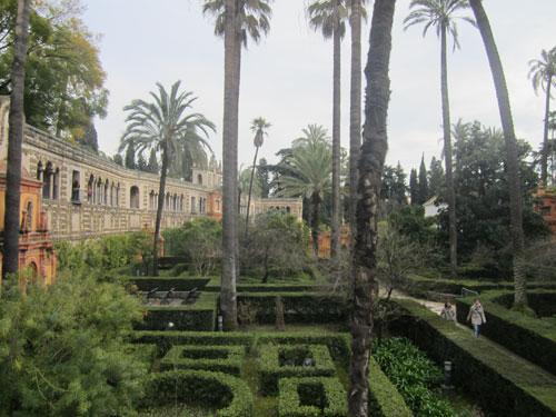 Foto labirinti e palme giardini di Real Alcazar